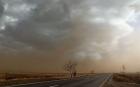 Fenomen extrem şi rar în judeţul Galaţi: furtună de nisip ca-n Sahel în zona şoselei naţionale DN25