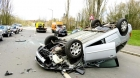 Fugea de Poliție! Sofer mort după ce s-a răsturnat cu mașina, avea permisul suspendat si vehiculul neinmatriculat