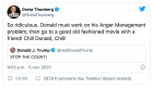 """Greta Thunberg l-a ridiculizat pe Donald Trump: """"Atat de ridicol. Calmeaza-te, Donald, calmeaza-te!"""""""