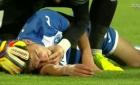 Horror la meciul FCSB. Un fotbalist s-a prăbuşit pe teren, sora lui a leşinat în tribune