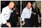 Imagini uluitoare cu Bruce Willis! Beat mort, cărat de bodyguarzi până la mașină! Ce a spus actorul tot drumul