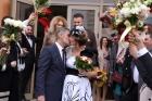 Primele imagini de la cununia civilă a Roxanei Ciuhulescu cu Sergiu Bulugioiu