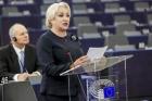 Viorica Dancila a facut bilantul presedintiei Romaniei la Consiliul UE: 90 de dosare legislative inchise...