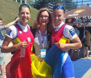 Canotaj: Mădălina Bereş şi Laura Oprea medaliate cu aur în proba de dublu rame la Europene