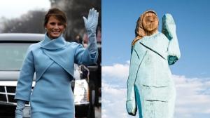 Cum a fost transformată Melania Trump în sperietoare de ciori