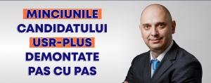 Dan Cristian Popescu demonteaza toate acuzele de tip fake-news pe care le promoveaza candidatul USR la adresa sa: Minciuni sfruntate!