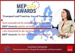 Europarlamentarul social-democrat Claudia Țapardel nominalizat la premiile MEP AWARDS