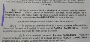 Firea fuge iarasi de 10 august si-l deleaga tot pe Badulescu sa spele rufele murdare