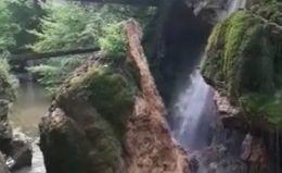 Imagini VIDEO prabușirea Cascadei Bigăr!