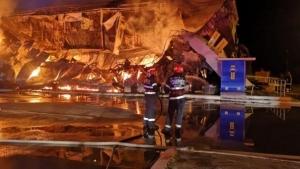 Incendiu puternic in Mamaia! Fostul Bamboo s-a facut scrum