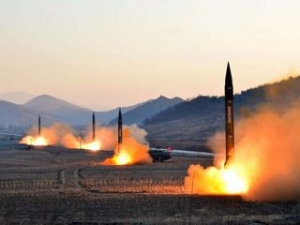 O rachetă nord-coreeană a distrus accidental un complex industrial, în cursul unui test