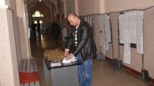 Un şofer din Buzău a plătit o amendă de circulaţie numai în monede de 1 ban in două sacoşe