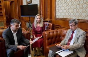 Valeri Kuzmin, întâlnire cu Marcel Ciolacu: Schimb de opinii privind perspectivele reluării dialogului interparlamentar ruso-român
