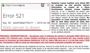 Ziuanews a intrat in posesia logurilor atacului cibernetic asupra Luju. Se strange latul in jurul SRI