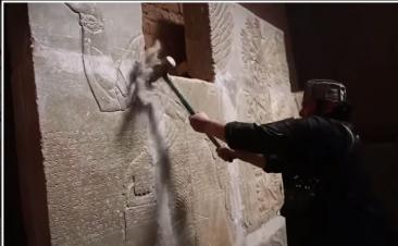 Cum distruge statul islamic vestigiile antice din Palmira (VIDEO)