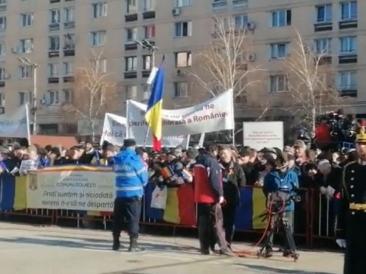 Klaus Iohannis, huiduit și aplaudat la Iași, în timpul discursului despre Unire