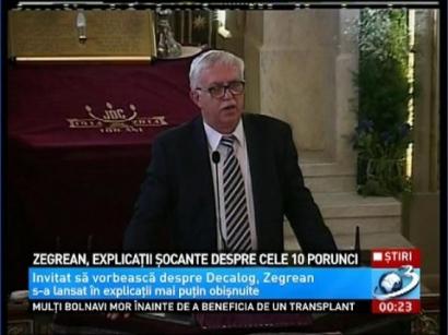 Augustin Zegrean, cu un discurs de senzatie despre homosexuali si fecundare