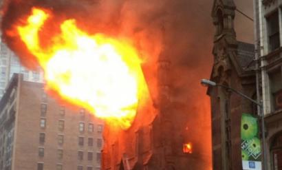 Catedrala ortodoxă Sf. Sava din New York distrusă de flăcări chiar in Duminica Pastilor