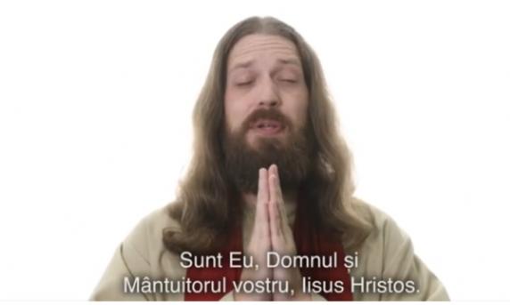 """Blasfemie infioratoare. Iisus Cristos folosit ca agent electoral de către USR-PLUS si #Rezist cu sloganul: """"M**E PSD!"""""""