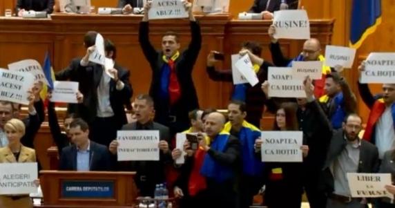 Ce spune Curtea Constitutionala despre pancartele din Parlament