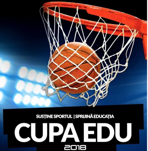 Cele mai bune echipe de baschet de liceu din Capitală se întrec în Cupa EDU, la Arena de Baschet din București, 7-9 decembrie