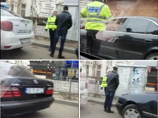 Chirica a parcat pe interzis, lăngă mașina Poliției, care amenda un ieșean de rând