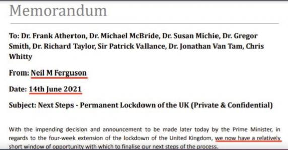 "E-mailul care arunca-n aer Planeta: Epidemiologul Neil Ferguson transmite regia uriașei Operatiuni ""Lockdown UK 2021"""