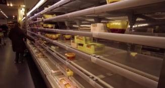 Efectul Brexit incepe sa se simta in supermarketurile din Marea Britanie. Imagini cu rafturi goale in raioanele de fructe si legume