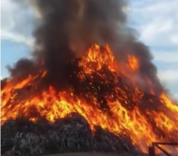 Gunoaiele din sectoarele 3 și 5 ale Bucureștiului sunt incendiate la Ulmeni Călărași