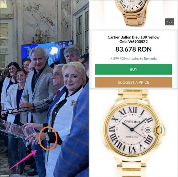 Jurnalistul Dan Bucura: Ceasul de peste 80.000 de lei al Vioricai Dancila e din banii de la UE sau din salariul de premier?!