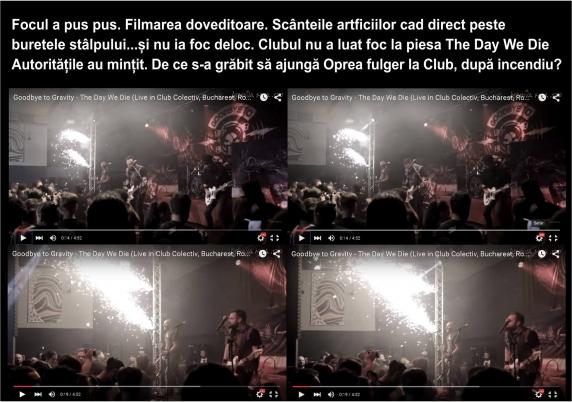 Jurnalistul George Roncea detine proba video ca focul a fost pus intentionat in Colectiv si ca Oprea a mintit