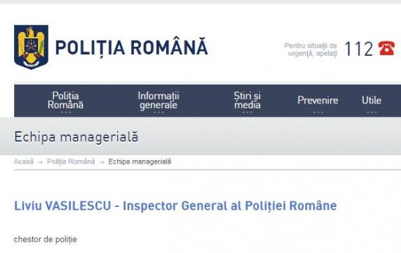 Liviu Vasilescu este noul șef al Poliției Române. A condus şi Direcţia de Operaţiuni Speciale