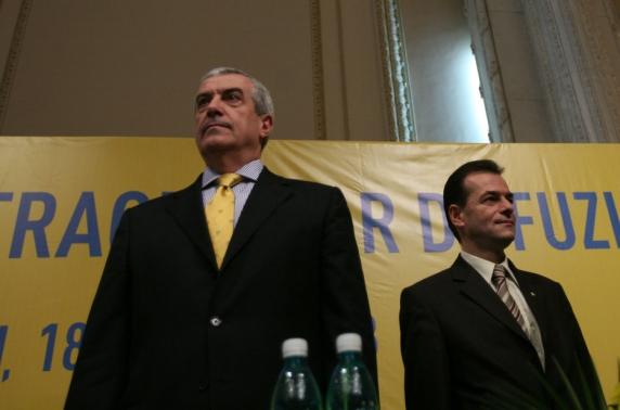 Ludovic Orban şi Călin Popescu Tăriceanu, întrevedere la vechiul sediu al PNL