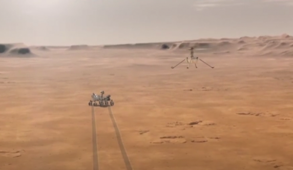Moment istoric pe Marte: Mini-elicopterul Ingenuity a zburat intr-o atmosfera extrem de rarefiata - VIDEO