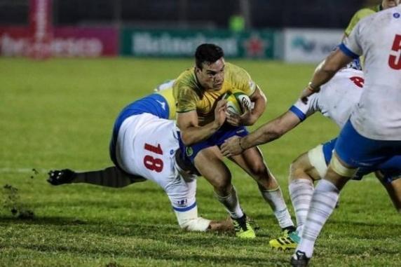 Naţionala de rugby a României a învins Brazilia într-un meci test, scor 22-21