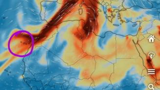 Norul toxic generat de vulcanul din La Palma pătrunde duminică în România. Până luni seară se va extinde în toată țara