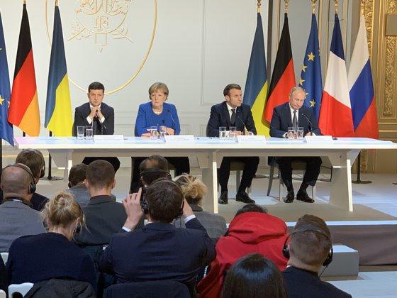Putin, Merkel, Macron şi Zelenski au ajuns la un acord: Armistiţiu total în estul Ucrainei şi posibil statut special pentru regiunile separatiste