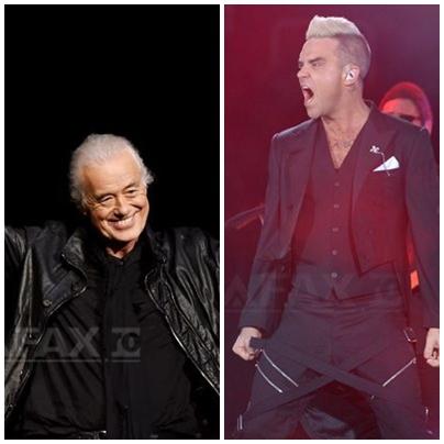 Robbie Williams l-a acuzat pe Jimmy Page de la Led Zeppelin, vecinul său în Londra, că-l spionează