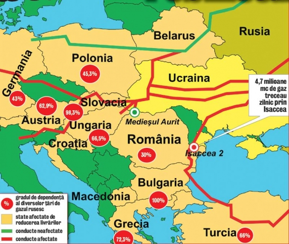Rusia foloseste monopolul energetic ca sa puna conditii, sa manipuleze si sa obtina avantaje de la guverne europene!