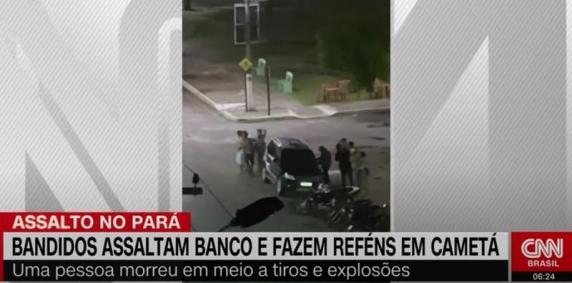 Un nou jaf bancar spectaculos în Brazilia, un mort: Armament greu, explozibili, luare de ostatici