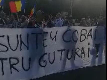 """Un nou protest în Piața Victoriei fața de legea carantinei: """"Nu suntem cobai pentru guturai"""""""