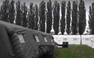 Un spital modular cumparat de Unifarm cu 3 milioane de euro sta nefolosit si se dezumflă-n ploaie!
