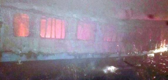 Vagoane in flacari, in Gara de Nord din Timisoara. Un om a murit