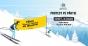 """Protest pe schiuri în Poiana Braşov: """"Tăiaţi pensiile speciale, nu pădurile"""""""