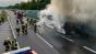 Un autocar plin cu români a ars ca o torţă pe o autostradă din Austria. 49 de persoane se aflau înăuntru