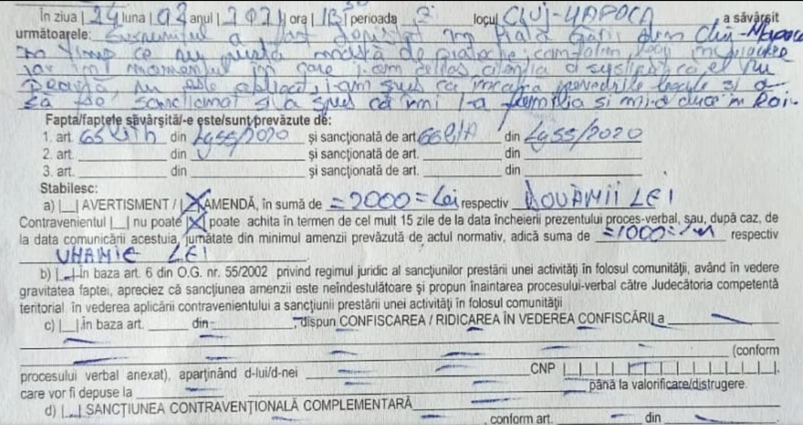 """Au crezut ca-s blestemați! Un preot din Cluj a fost amendat de jandarmi dupa ce le-a urat """"sa ajunga cu toata familia in Rai"""""""