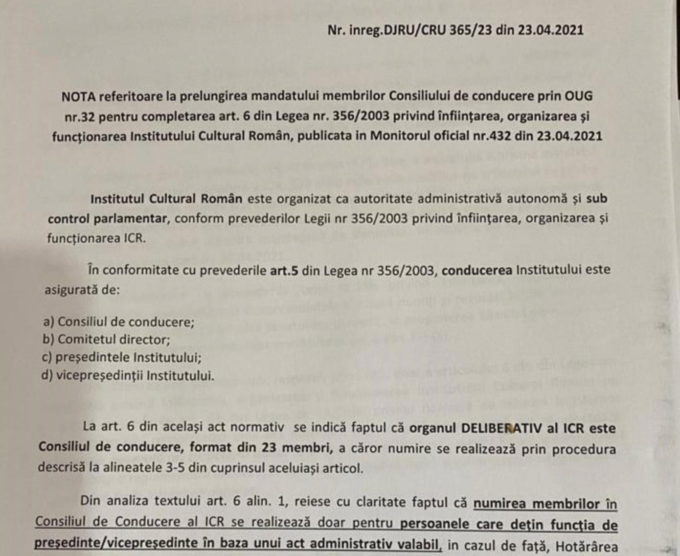Avertisment: Institutul Cultural Român a rămas fără conducere!