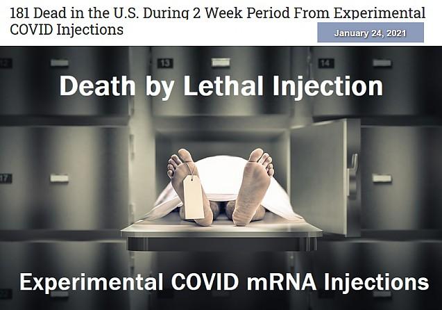 DATE OFICIALE: 181 de morți în SUA si 75 in Europa în urma vaccinurilor după doar două săptămâni de imunizare anti COVID