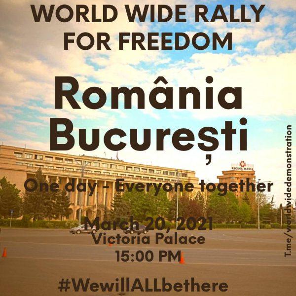 Este Revoltă Mondială. Oamenii împart manifeste si se organizează pentru 20 martie 2021 la marele prostest universal