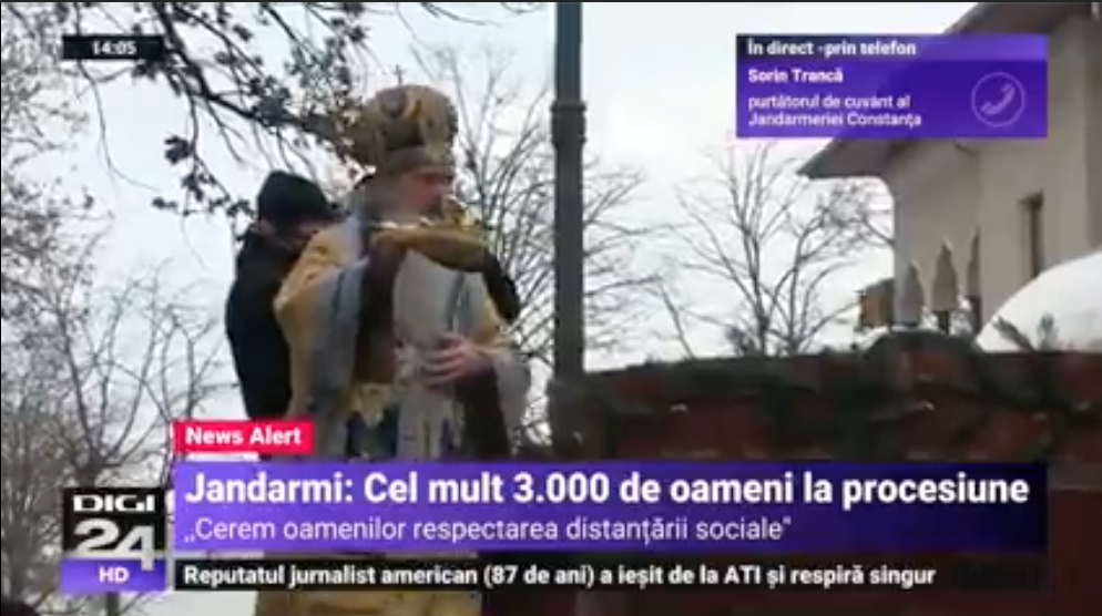 Jandarmeria e incapabilă sa explice discriminarea intre slujbele religioase si manifestarile culturale legat de numarul de participanti